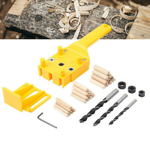 Woodworking Hole Locator Drilling Guide Jig Tool set for Wood Dowel Drilling UK