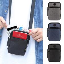 Men Retro Outdoor Travel Phone Mini Crossbody Messenger Shoulder Pouch Bags