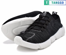 Tanggo Men's Sneakers Casual Rubber Shoes 6007 (black)