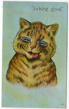 "Louis Wain Cat ""Licking Good"""