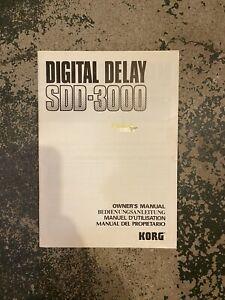 Korg Digital Delay Sdd Manual-3000
