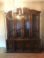 Vintage Drexel Lighted China Cabinet - Beautiful!