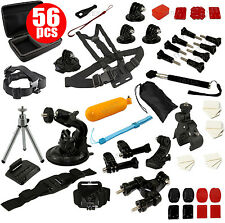 GoPro Accessory Pack Case Head Chest Monopod Bike Surf Mount for Hero 4 3+ 3 2