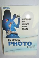 Corel PaintShop Photo Express 2010  Software For Microsoft Windows XP, 7- New-