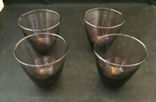 Set Of 4 Purple Tumblers Drinking Glasses Cups