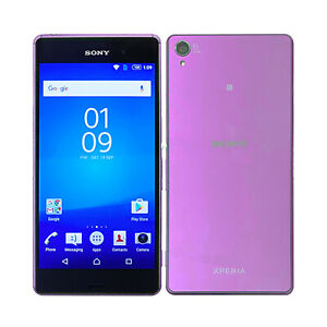 Sony Xperia Z3 D6603 Google Android Cellular Mobile Phone 16GB Purple Unlocked