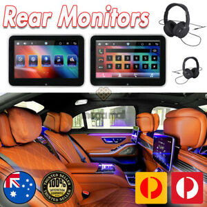 Android 8.0 Car Headrest Monitor RAM 2GB Rear Seat MP5 Player 4G WIFI Headphone