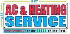 AC & HEATING SERVICE Banner Sign NEW Larger Size Best Quality for The $$$