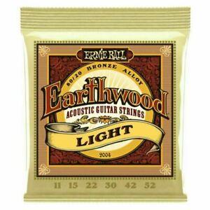 Genuine Ernie Ball Acoustic Guitar Strings Earthwood Light 11-52