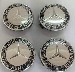 4Pcs Wheel Rim Center Caps Emblem Fit for MERCEDES BENZ Logo Badge Hub 75mm