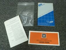 1982 Chevy Corvette Coupe Owner Manual Set Original Collector Edition 5.7L V8