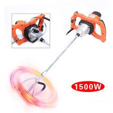 110v Electric Putty Powder Mixer Single Rod 6 Speed Paint Plaster Stirring Mixer