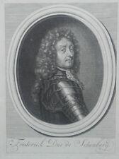 GRANDE GRAVURE XVIIIe FREDERICK duc de SCHOMBERG maréchal de France