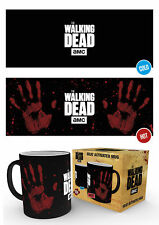 The Walking Dead Hand Print TV Zombies TWD Heat Changing Cup Tea Coffee Mug Mugs
