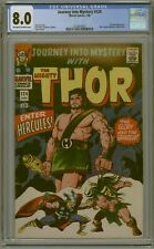 CGC 8.0 JOURNEY INTO MYSTERY #124 CLASSIC HERCULES COVER 2ND APPEARANCE OW/W PGS