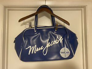 """Pan Am Airlines Marc Jacobs Innovator Travel Bag Blue Preowned 11""""x17""""x9"""" PanAm"""