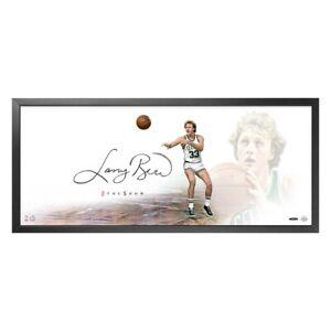 "Larry Bird Signed Autograph 20X46 Framed Photo The Show ""The Legend"" Celtics UDA"