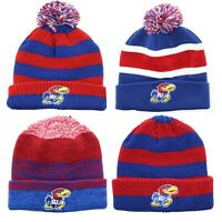 Fan Favorite Men's Beanie NCAA Kansas University Jayhawks Winter Hat Knitted Cap