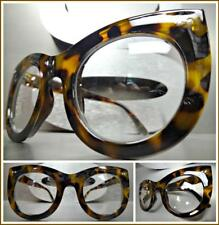 Oversized Vintage Retro Style Clear Lens EYE GLASSES Thick Leopard Fashion Frame
