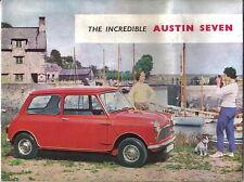Austin Mini Seven Original UK Sales Brochure No. 1793/B circa 1960