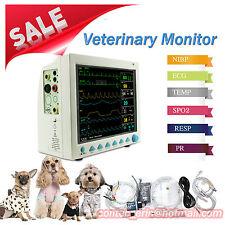 CONTEC VET Veterinary Monitor 6-Para  NIBP SPO2 PR ECG TEMP RESP cms8000VET