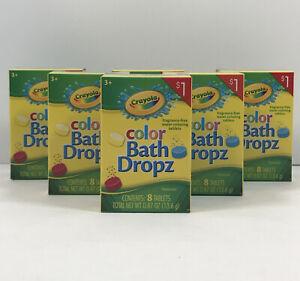 Lot Of 6 Packs Crayola Color Bath Dropz Drops 8 ea Pack Total 48 Tabs NEW Favors
