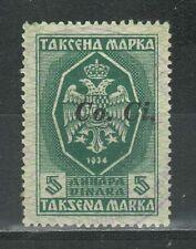 WWII Slovenia 1942 ☀ Ovp. CO. CI. Revenue Stamp ☀ Used