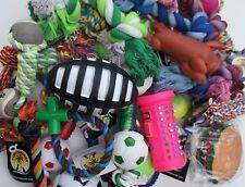 BULK ASSORTITI PET DOG squeaky Chew CORDA PALLA GOMMA grandi GIOCATTOLI X 10 dog toys