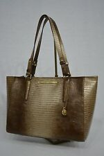 NWT! Brahmin Medium Arno Shoulder Bag in Sable Fashion Lizard Dull Gold & Brown
