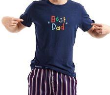 PETER ALEXANDER MENS BOYS TOP PRINTED BEST DAD SLEEPWEAR Navy SZ M