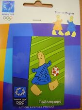 FOOTBALL SOCCER - OLYMPIC PLASTIC MAGNET ATHENS 2004  OLYMPIC GAMES