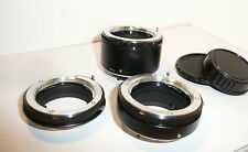 SET of 3 QUALITY MINOLTA MC MD SR MOUNT AUTO EXTENSION TUBES 68mm in TOTAL
