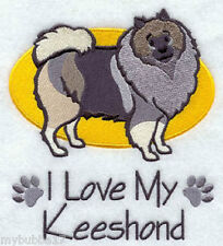 Keeshond I Love My Set Of 2 Bath Hand Towels Embroidered by laura