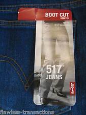LEVI JEANS 13 M Jr 517 Stretch Bootcut Denim Blue Jean Levis 36 x 32 NEW w TAG