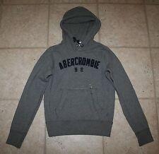 NWT Abercrombie Boys Large Grey Hoodie Logo Sweatshirt