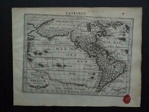 1630 Jansson / Mercator Atlas map  AMERICA - Americae Descriptio