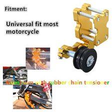 Aluminum Adjuster Chain Tensioner Bolt On Roller Motorcycle Chopper ATV Bike New