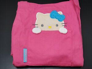 Women/'s Hello Kitty Apron Thick Canvas Aprons Kitchen Anti Oil BBQ Navy Blue