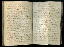 Handschrift mit Reisenotizen und eingeklebten Pflanzen 1845 - 1867 - Original!