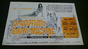 1965 Dr Goldfoot and the Bikini Machine pressbook Vincent Price Frankie Avalon