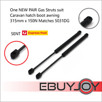 One PAIR Gas Struts Caravan hatch boot awning 315mm long x 150N Matches 5031DG