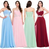 élégant longue robe de soirée de bal TENUE DE DEMOISELLE D'honneur taille:3