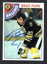 Brad Park #79 signed autograph auto 1978 Topps Hockey Trading Card
