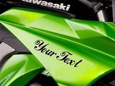2X CUSTOM VINYL DECAL sticker motorbike bike name CHOOSE COLOUR & FONT