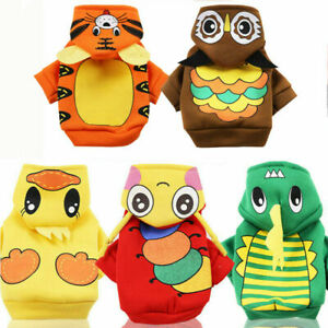 Cartoon Pet Clothes for Small Dogs Spring Dog Hoodie Soft Puppy Cosplay Clothing