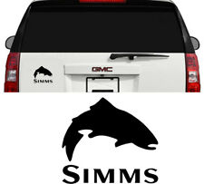 Simms Fishing Outdoor Sports Trout Vinyl Decal Sticker Window Cooler Matte Black