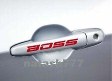 BOSS Door Handle Vinyl Decal Sticker Emblem logo Sport Racing Car Truck SUV 2pcs