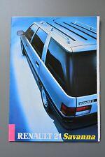UK Sales Brochure Renault 21 Savanna estate Petrol & Diesel