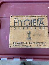 Hygieia Dustless Chalk Wood Jointed Box The American Crayon Company Sandusky Oh