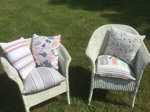 5 Cushions  Red Blue White Stripe Seaside Retro Ideal Picnic Garden Summer House